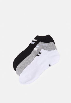CHEVRON ANKLE SOCK  6 PACK UNISEX - Calcetines tobilleros - white/black/grey melange