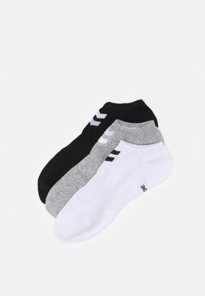CHEVRON ANKLE SOCK  6 PACK UNISEX - Stopki - white/black/grey melange