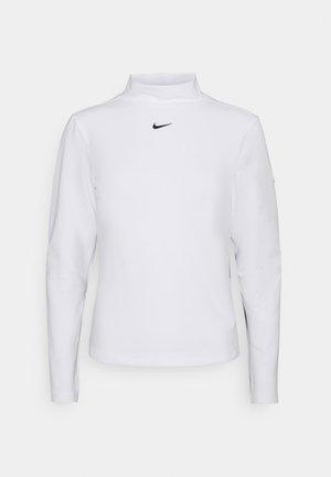 MOCK TOP - Camiseta de manga larga - white/black