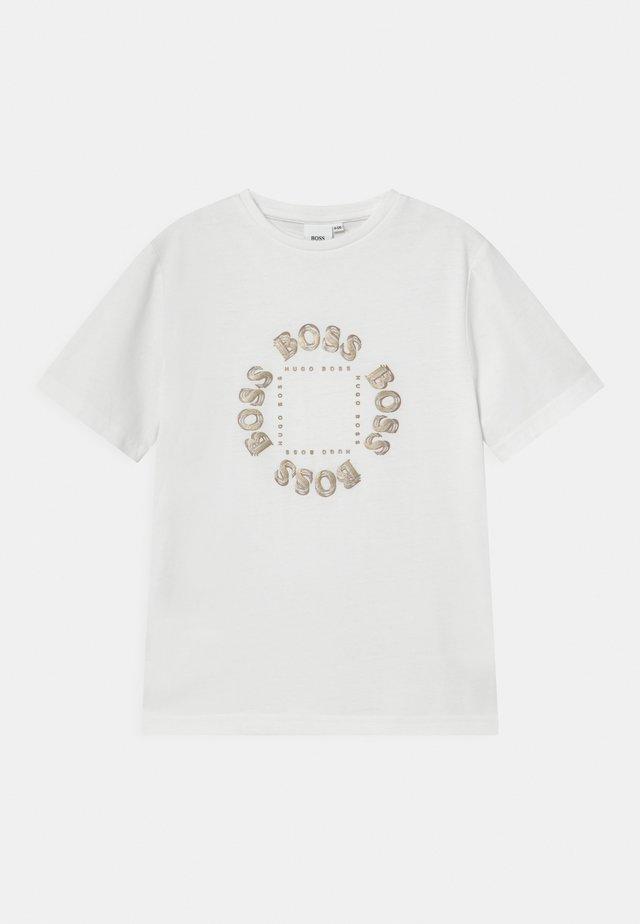 SHORT SLEEVES  - T-shirt med print - white