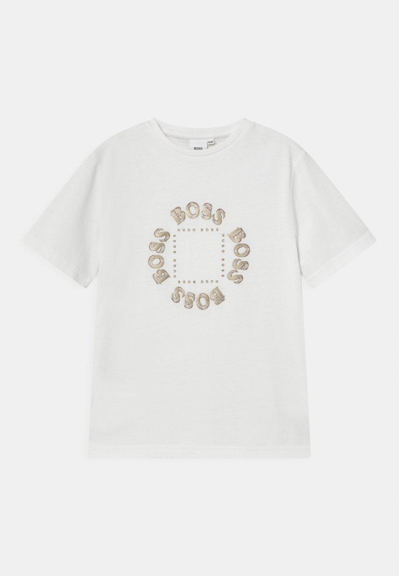 BOSS - SHORT SLEEVES  - Print T-shirt - white
