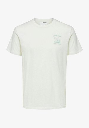 T-shirt med print - egret