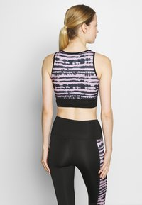 South Beach - SEAMLESS SMOKEY CROPCUT SEW - Top - black/grey - 2