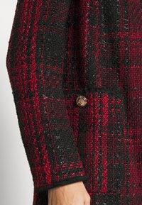 Wallis - CHECK COLLARLESS COAT - Blazer - red - 4