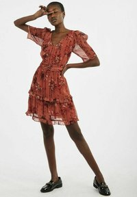 NAF NAF - Sukienka letnia - brown - 1
