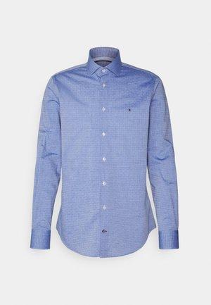 OXFORD DOBBY SLIM - Formal shirt - navy/white