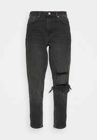 Topshop - WASHED BLACK SEOUL RIP MOM - Džíny Relaxed Fit - washed black - 4