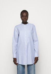 Tory Burch - STRIPE - Shirt dress - blue dusk/white - 0