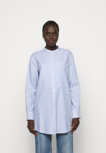 STRIPE - Shirt dress - blue dusk/white