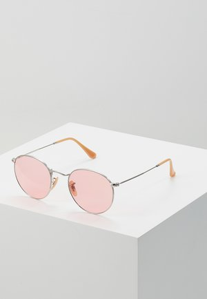 ROUND METAL - Sunglasses - silver-coloured
