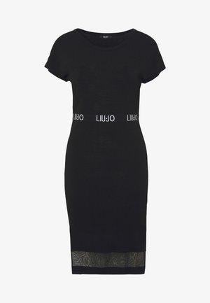 ABITO MAGLIA - Shift dress - nero/nero