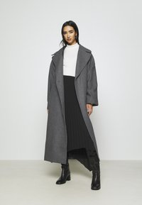 Weekday - KIA BLEND COAT - Zimní kabát - antracit melange - 1