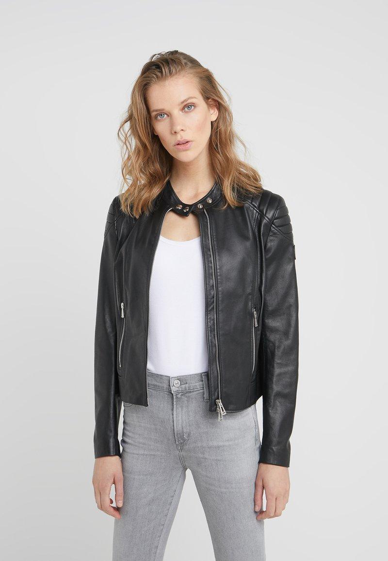 Belstaff - MOLLISON - Leather jacket - black