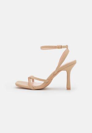 KELLIE - T-bar sandals - nude