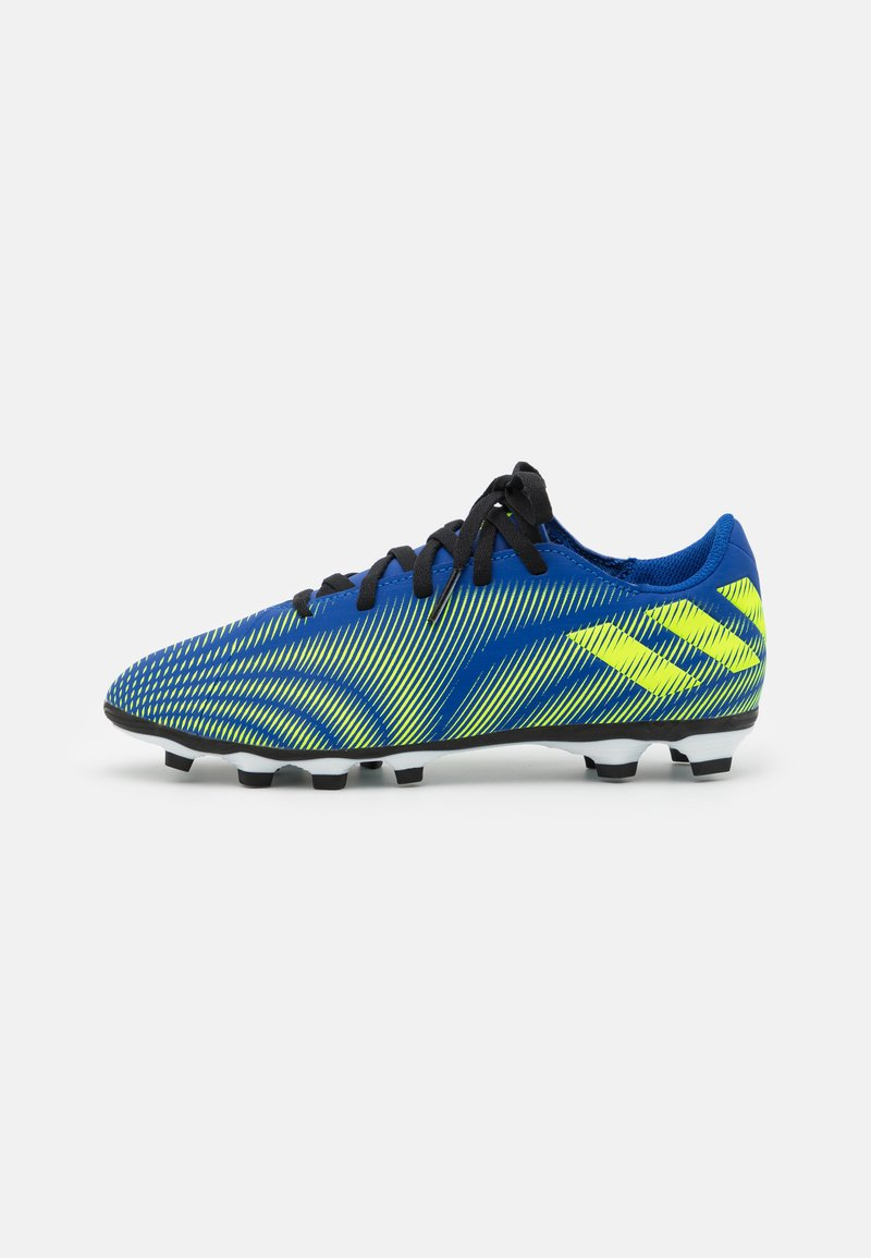 adidas Performance - NEMEZIZ .4 FXG UNISEX - Moulded stud football boots - royal bleu/solar yellow/footwear white