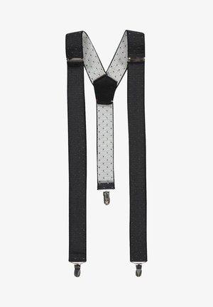 HOSENTRÄGER MIT RIPSSTRUKTUR - Belt - black