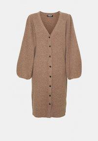Fashion Union Petite - FAVOUR LONGLINE CARDI BUTTONS - Cardigan - camel - 4