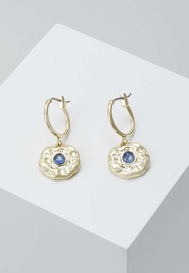 Earrings - gold-coloured/blue