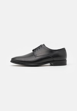 LEATHER - Zapatos con cordones - black