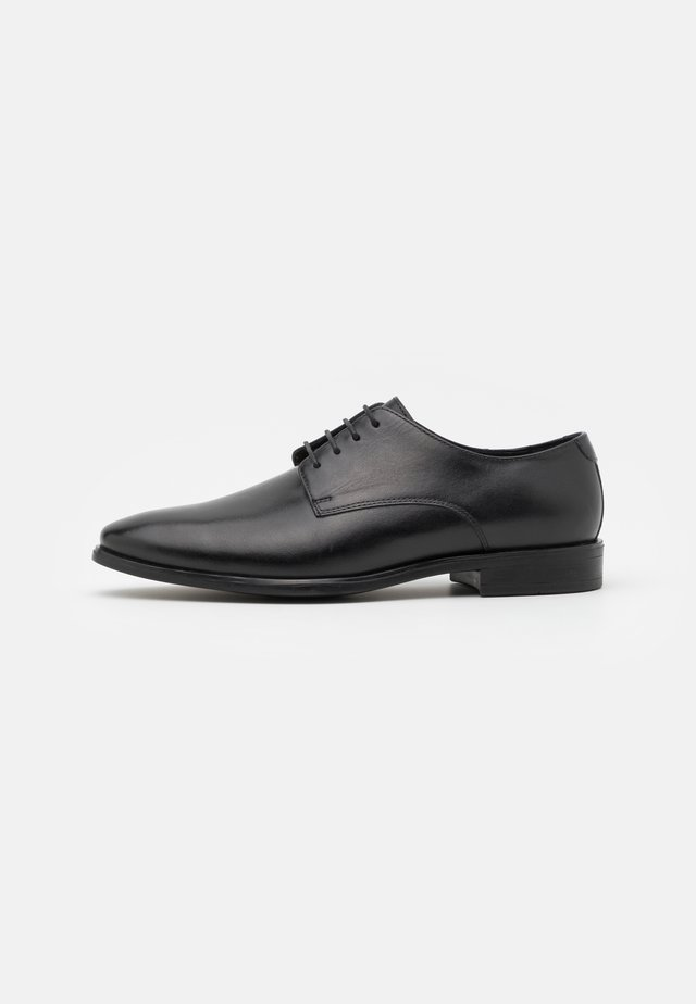 LEATHER - Smart lace-ups - black