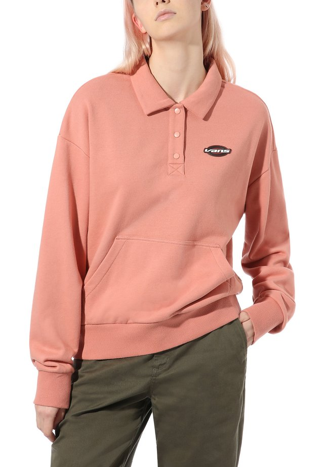 WM DOME GROWN POLO FLEECE - Svetr - rose dawn