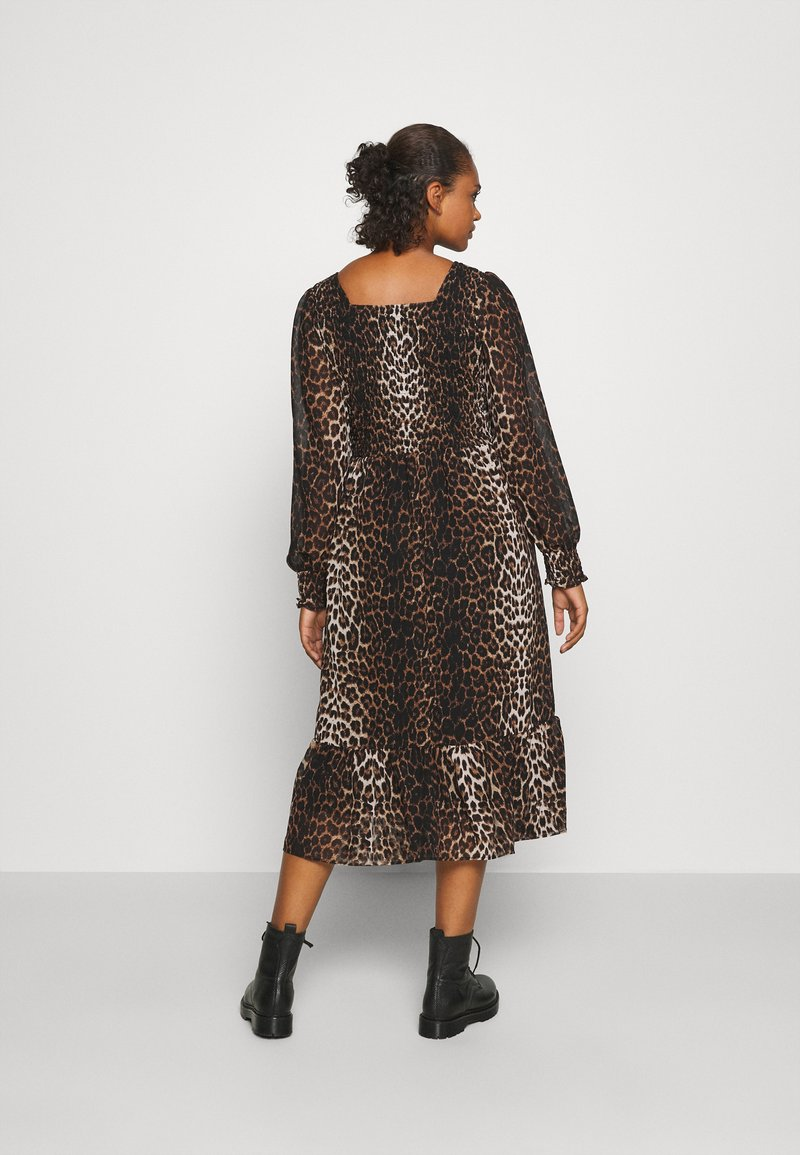ONLY - ONLLEA MIDI DRESS  - Day dress - black
