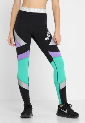 SUPER SPORT - Leggings - black/mochi green