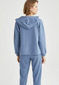 DeFacto - Zip-up hoodie - blue - 1