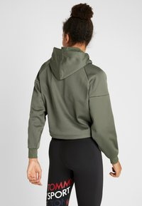 Tommy Hilfiger - HOODY CROPPED WITH TAPE - Huppari - green - 2