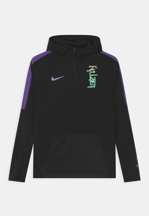 KYLIAN MBAPPE HOODIE UNISEX - Sports shirt - black/fierce purple