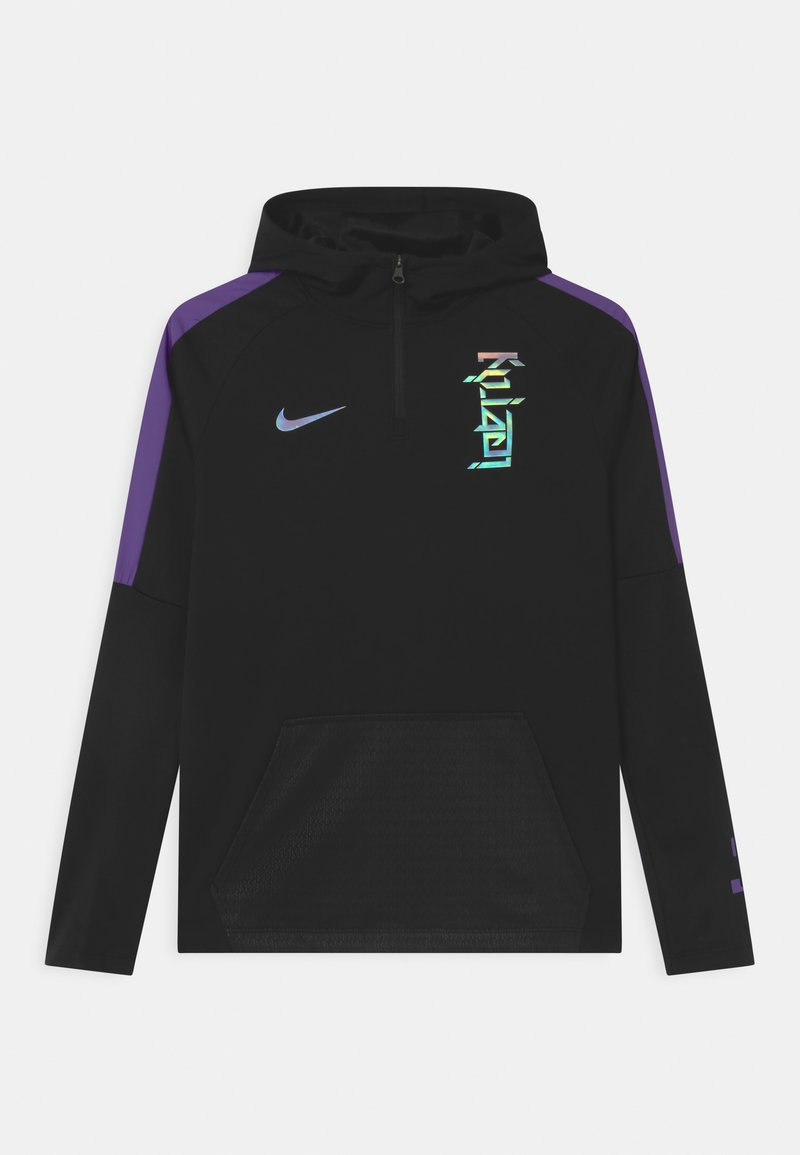 Nike Performance - KYLIAN MBAPPE HOODIE UNISEX - T-shirt de sport - black/fierce purple
