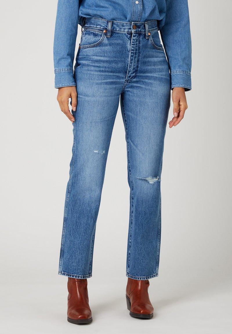 Wrangler - WILD WEST - Straight leg jeans - bluebell