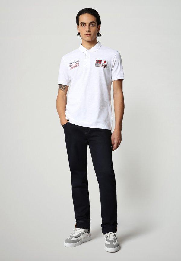 Napapijri EULA - Koszulka polo - bright white/biały Odzież Męska JAUM