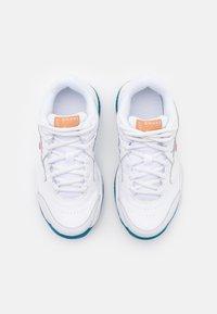 Nike Performance - COURT Jr.  LITE 2 UNISEX - Multicourt tennis shoes - white/team orange/green abyss/praline - 3