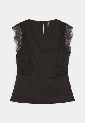 PCDANNA V NECK - Blouse - black