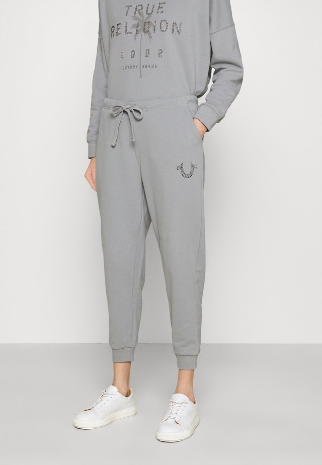PANT HORSESHOE WITH FROST - Tracksuit bottoms - frost