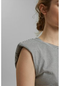 Esprit Collection - PADDED TEE - Basic T-shirt - off white - 2