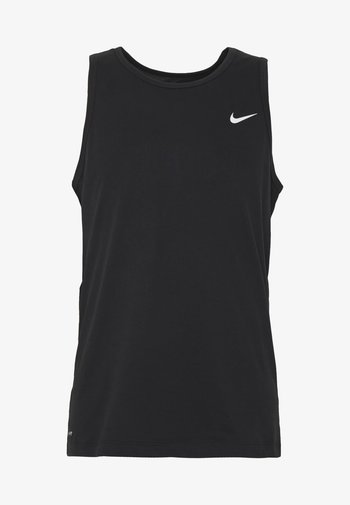 DRY TANK SOLID - Sports shirt - black /white
