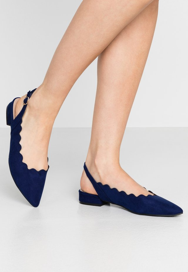 PAL SCALLOP SLING POINT - Slingback ballet pumps - blue