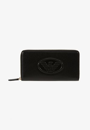 FRIDA ZIP ARROUND EMBOSSED LOGO - Portefeuille - black