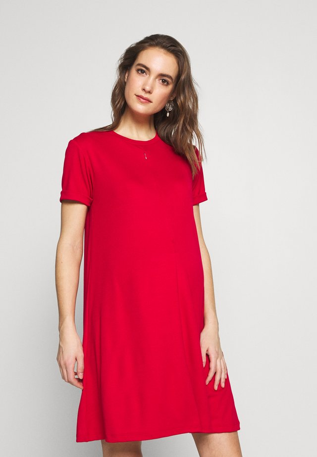 DRESS MELINA NURSING - Jersey dress - red