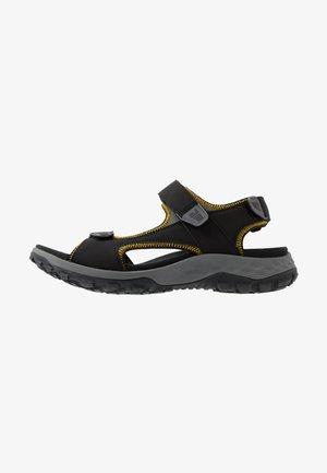 ROCKY PATH - Walking sandals - black/burly yellow