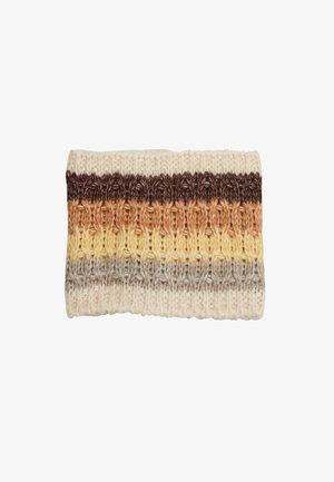 Ear warmers - brown stripes