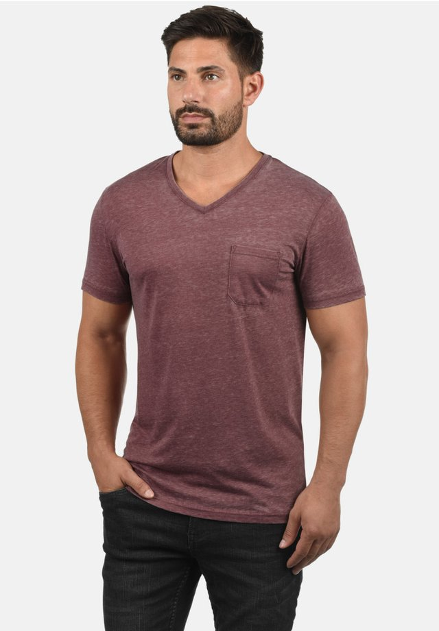 V-SHIRT THEON - Basic T-shirt - wine red