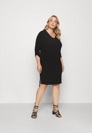 CARLAMOUR V NECK KNEE DRESS - Jumper dress - black