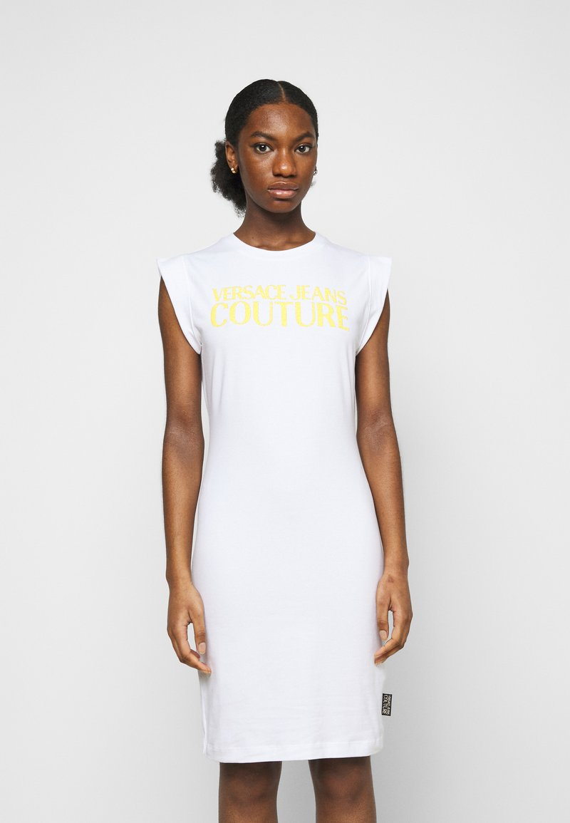 Versace Jeans Couture - ACTIVE DRESS - Jersey dress - optical white