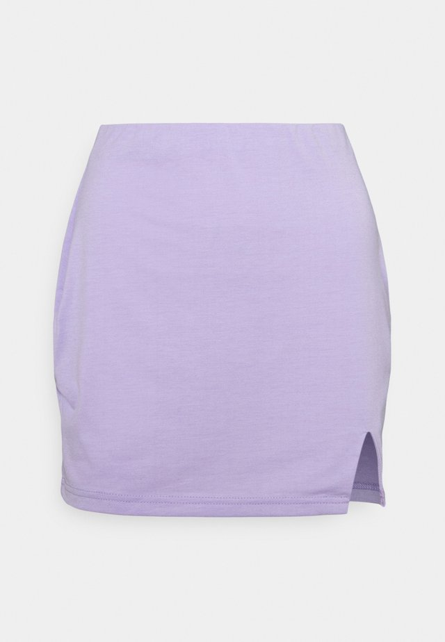 SPLIT SIDE SKIRT - Minijupe - lilac