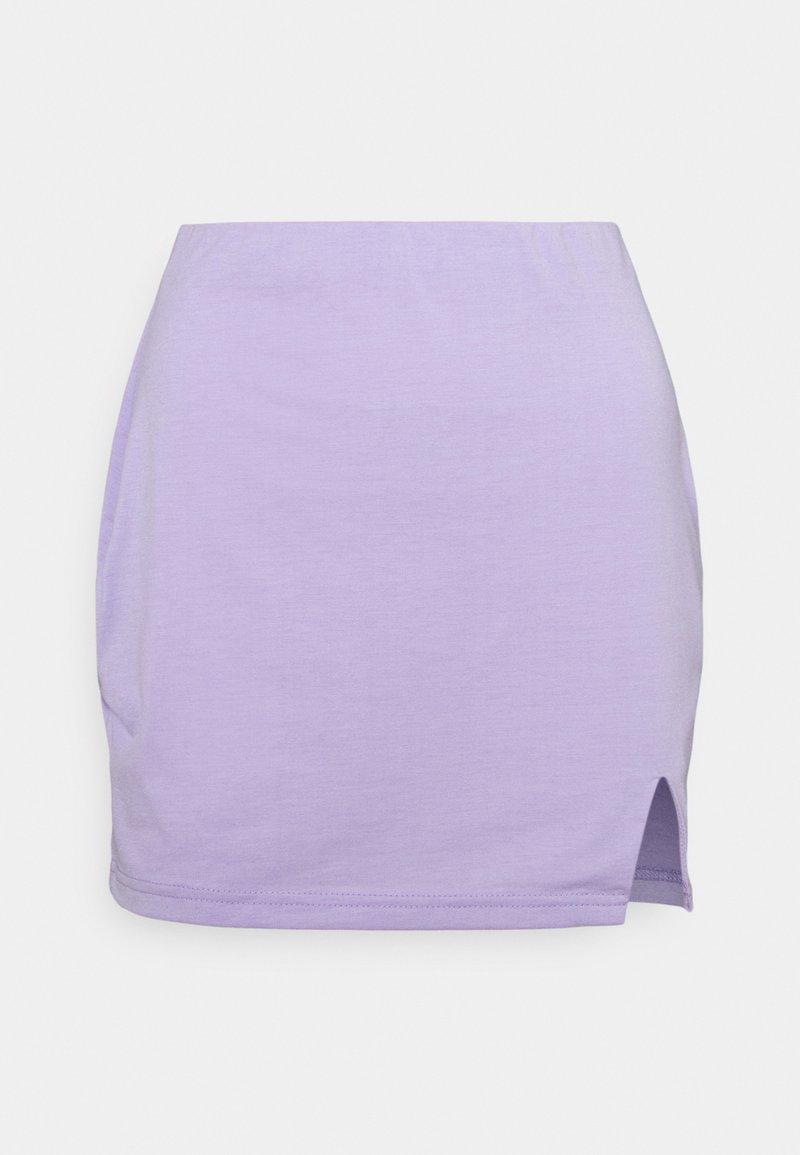 South Beach Petite - SPLIT SIDE SKIRT - Mini skirt - lilac