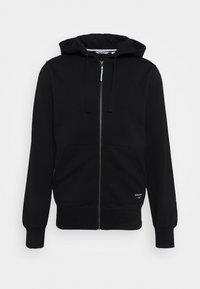 Björn Borg - CENTRE ZIP HOOD - Zip-up sweatshirt - black beauty - 0