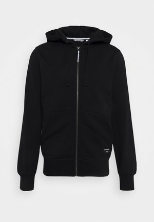 CENTRE ZIP HOOD - Sweatjacke - black beauty
